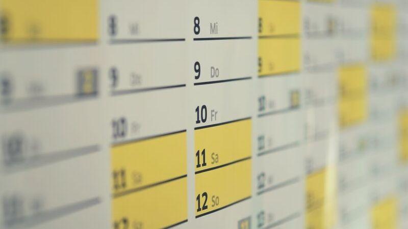 【画像】家族のスケジュール管理その1は大きなカレンダー