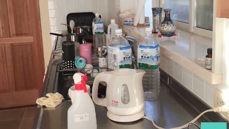 【画像】片付ける前のキッチンのビフォー写真